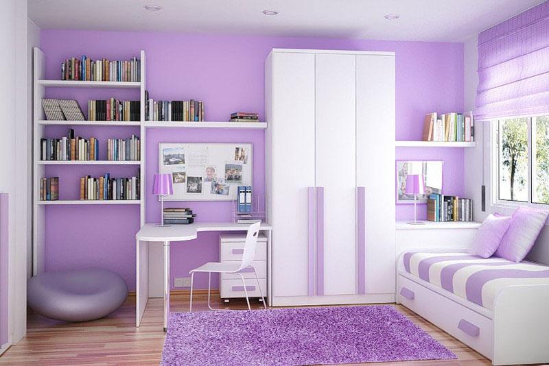 лавандовая детская комната