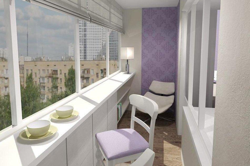 лавандовый балкон