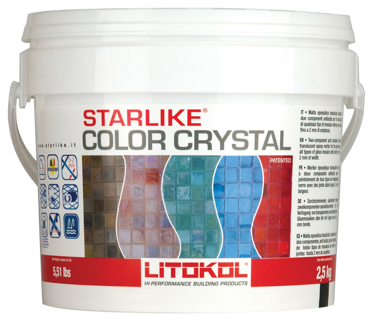 затирка эпоксидная для узких швов Litokol Starlike Color Crystal