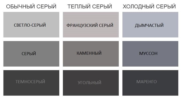 вариации серого