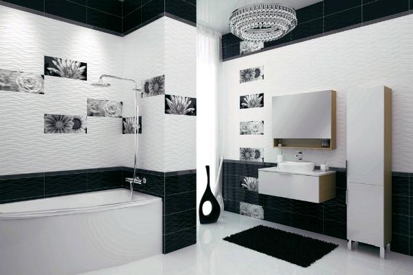 ванная комната черно-белая