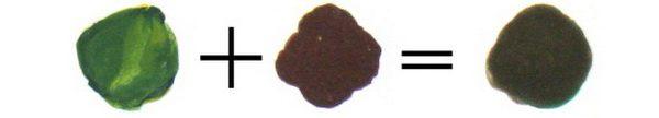 хаки из коричневого