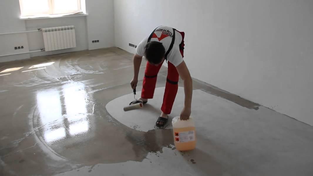 Грунтование напольного покрытия