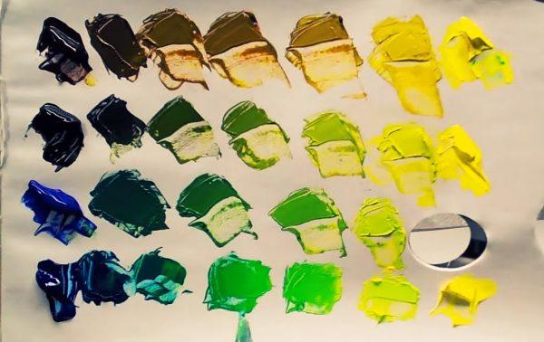 цвет хаки из акриловых красок