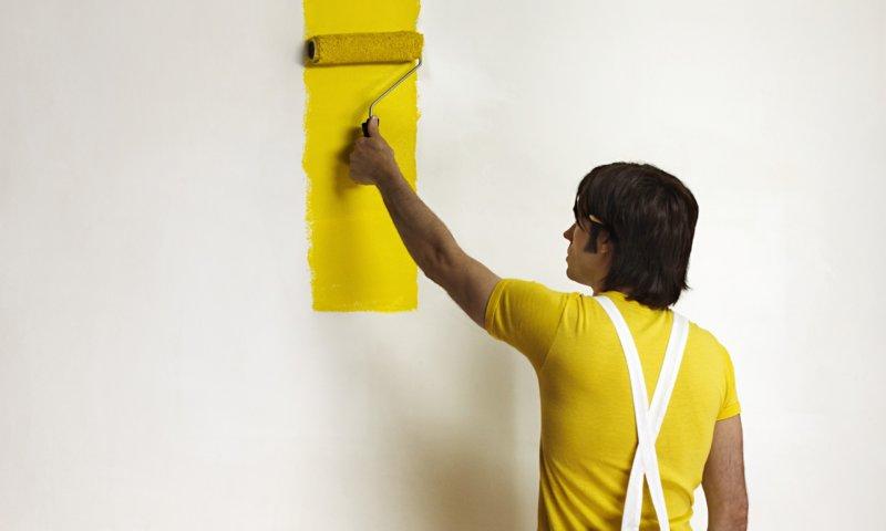 окрашивание стен водоэмульсионкой