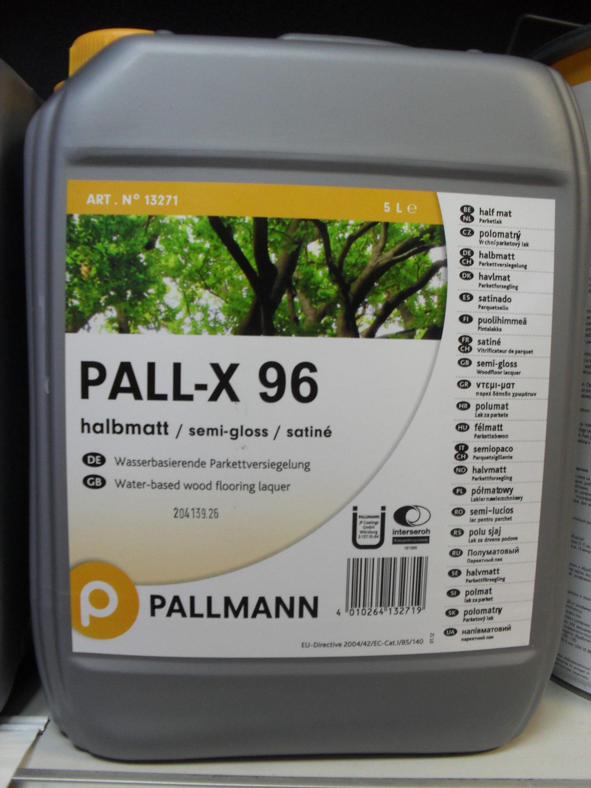 Паркетный лак на водной основе PALLMANN X96