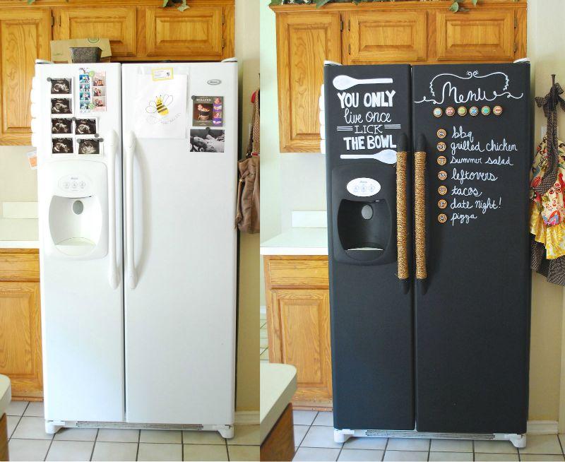 окрашивание холодильника