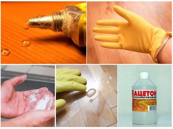 Меры предосторожности при работе с клеем