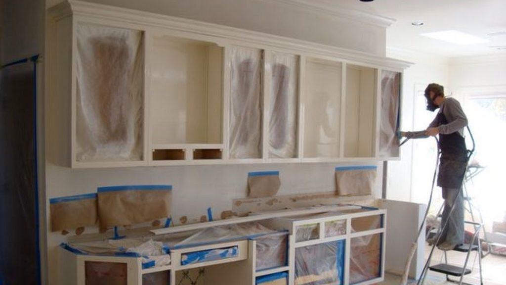 подготовка кухни к окрашиванию
