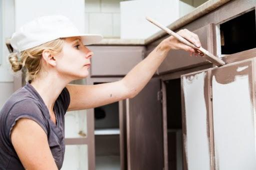 окрашивание кухонных фасадов