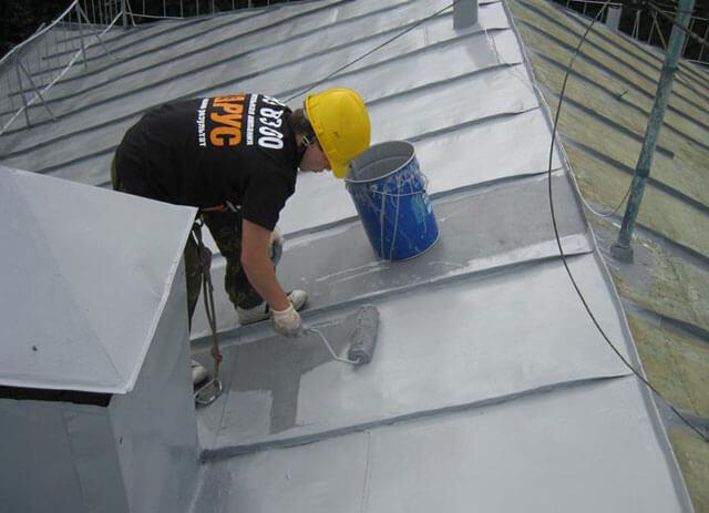 окрашивание железной крыши