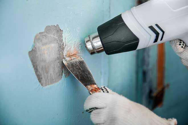 термический метод удаления краски