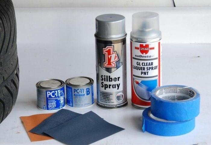 инструменты для покраски дисков