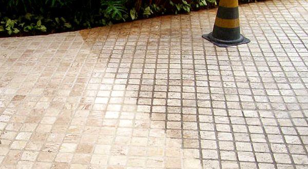 Пропитка с эффектом мокрого камня для тротуарной плитки