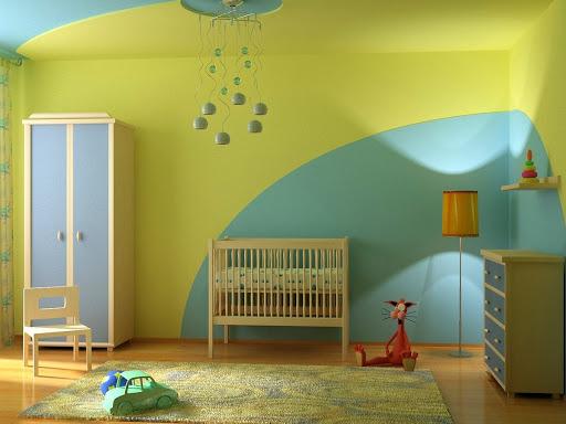 окрашивание стен в два цвета