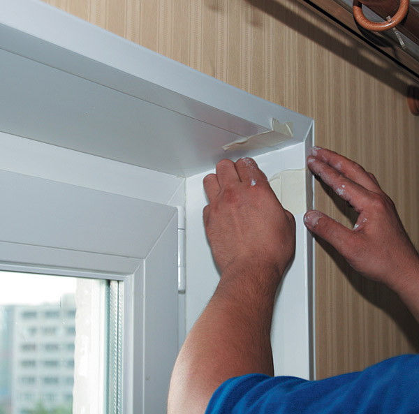 подготовка окна к окрашиванию