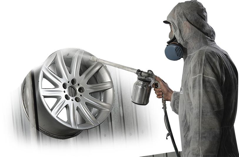 Меры безопасности при покраске дисков авто