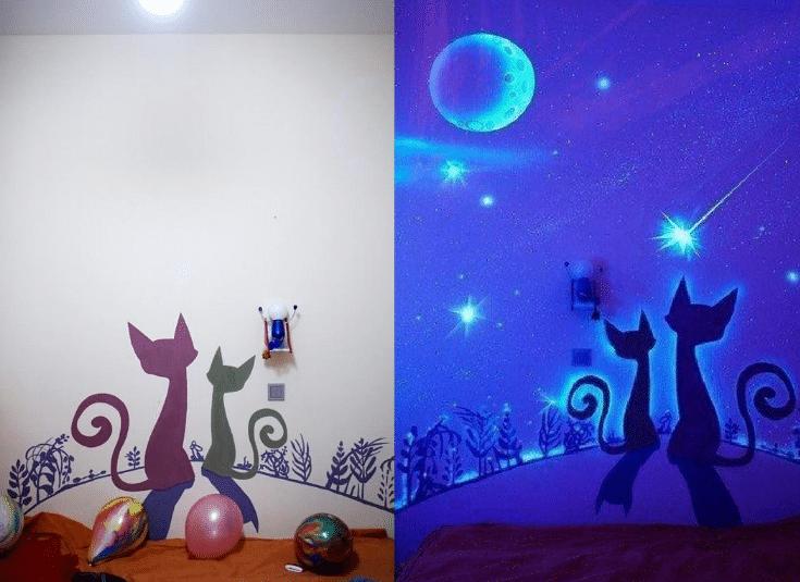 краска с люминесцентным эффектом
