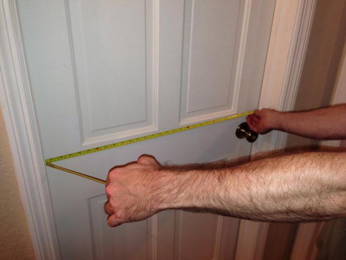 измерение дверей