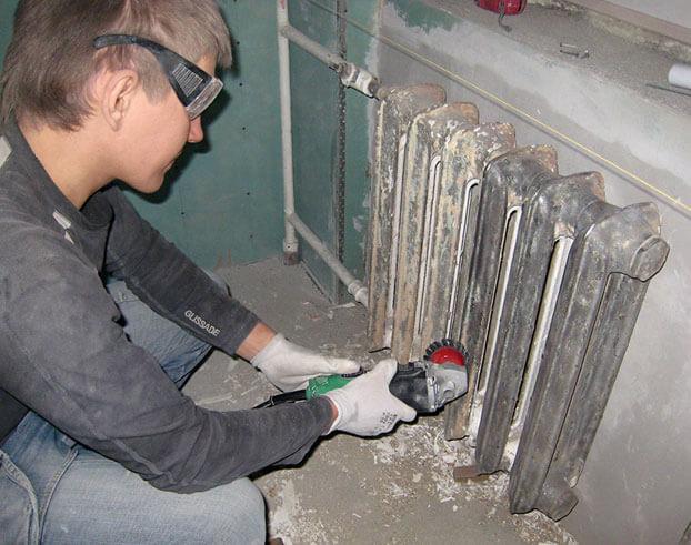 подготовка радиатора к покраске