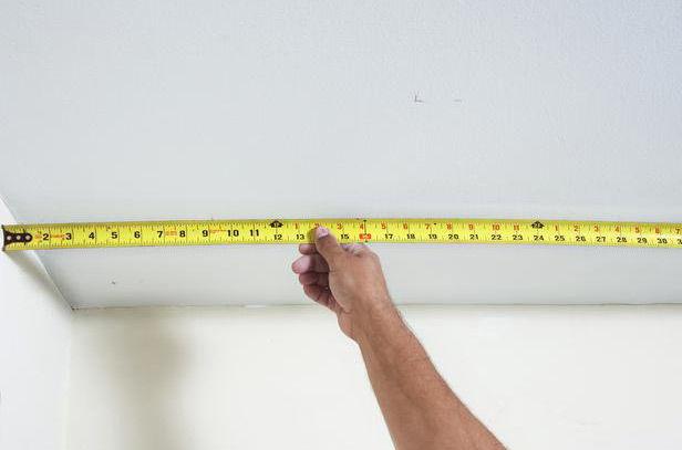 измерение площади потолка