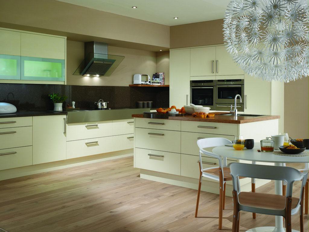 песочный цвет в интерьере кухни