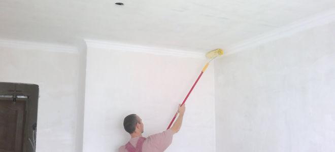 грунтовка потолка перед побелкой