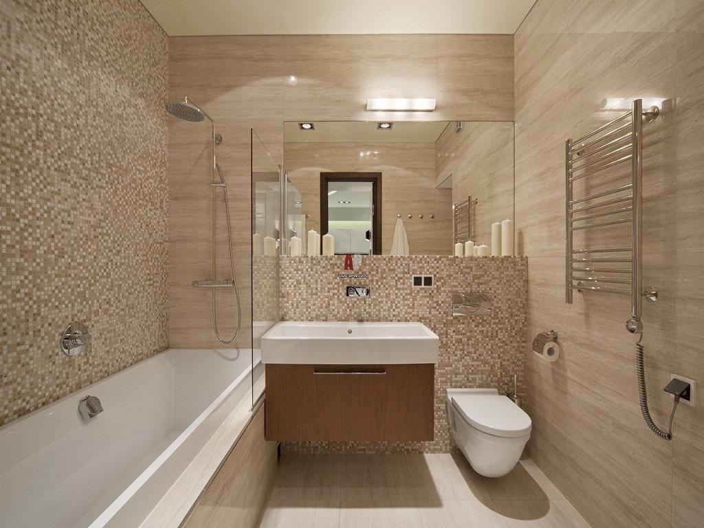 песочный цвет в интерьере ванной