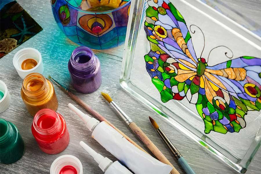 рисование на стекле