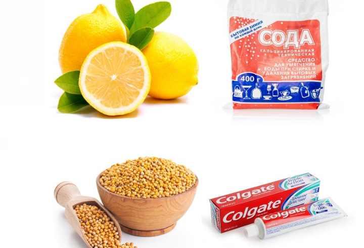 зубная паста, сода горчица лимон