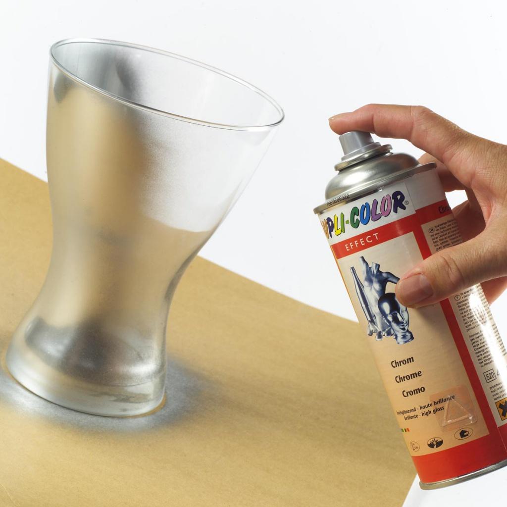 окрашивание стекла краской из баллончика