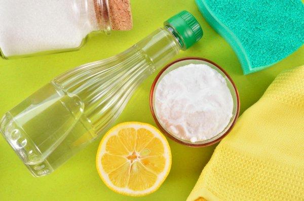 лимон, сода и уксус
