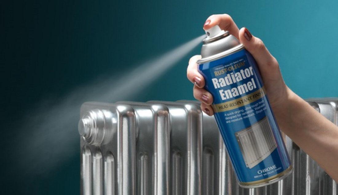 окрашивание радиатора серебрянкой