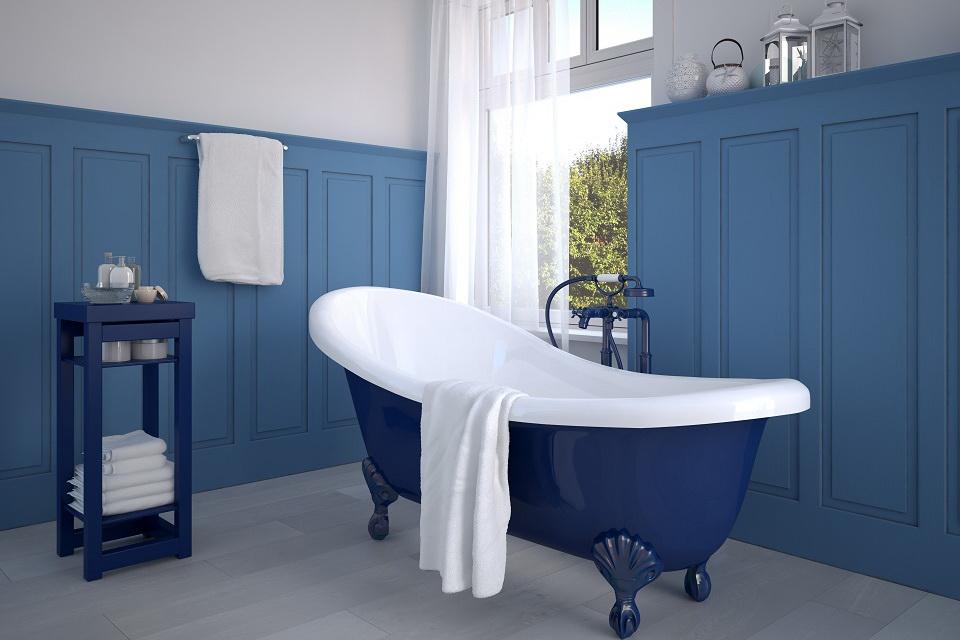 синяя ванная