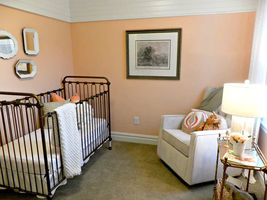 персиковый цвет в детской