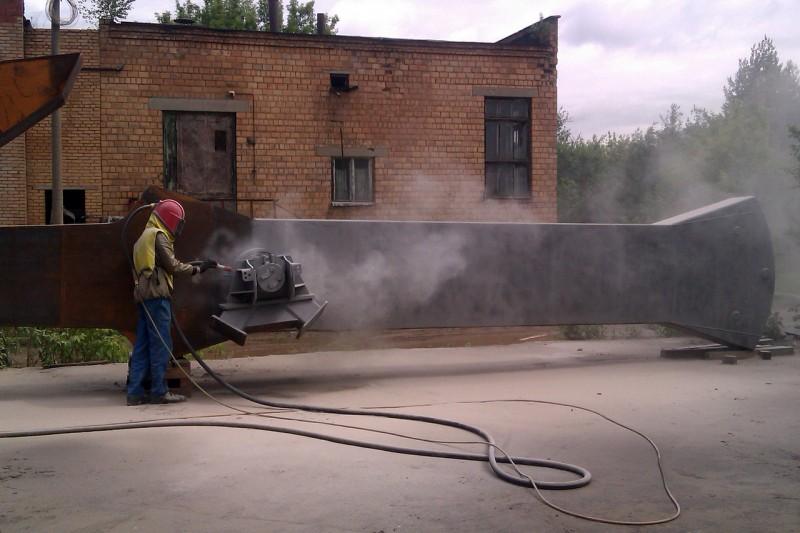 тепловая очистка ржавчины заводским парогенератором