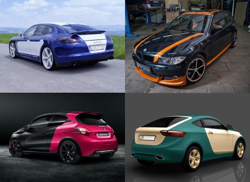 Варианты покраски автомобилей