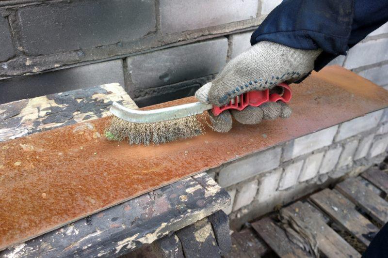 механическая очистка ржавчины