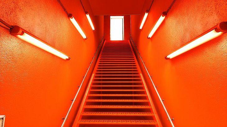оранжевый цвет коридор