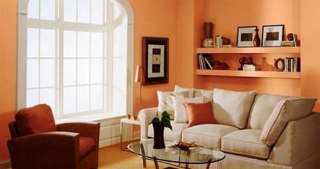 персиковый и терракотовый цвет в интерьере
