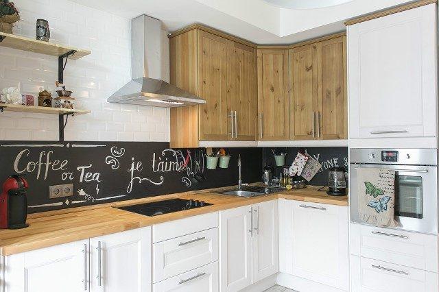 грифельная краска на кухне