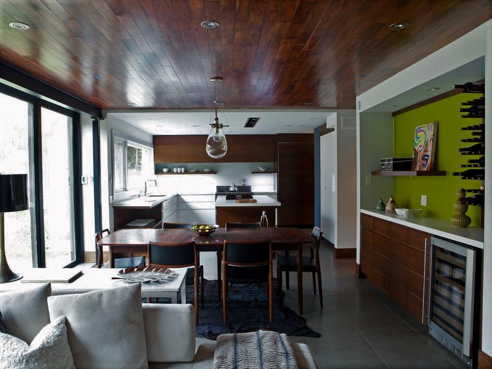 потолок цвета венге